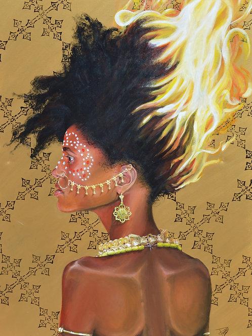 Goddess of Fire, 11''x 17'' signed print
