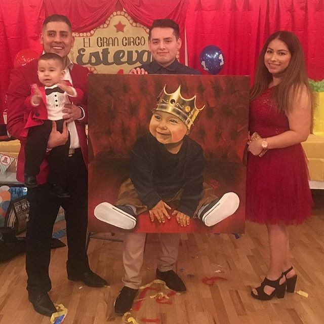Long live the king__#longlivetheking #cutebaby #bestfriend #son #uncle #birthday #present #art #love #friendship #painting #acrylicpainting_