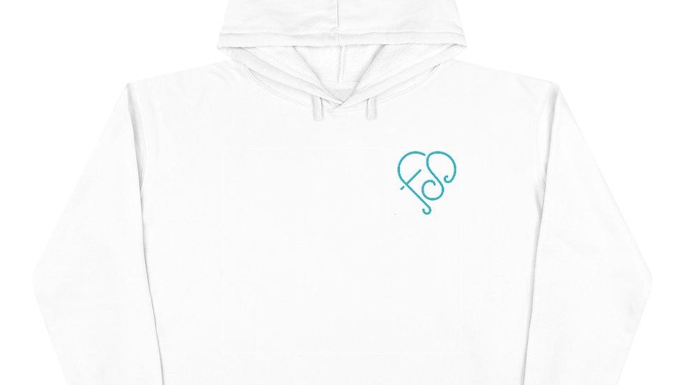 Crop Hoodie (Blue Logo)