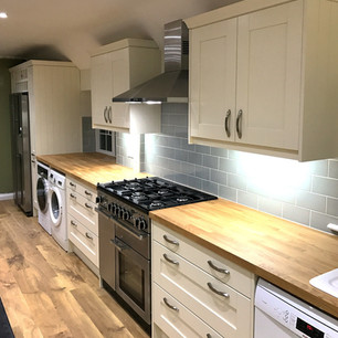 Traditional country kitchen with cream units