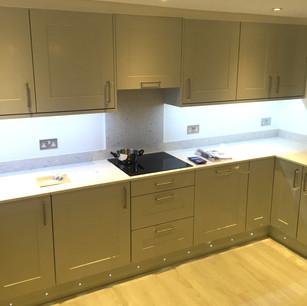 Modern kitchen with under unit lighting