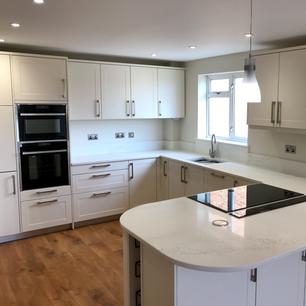 Modern all white gloss kitchen