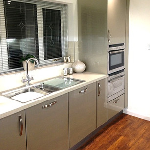 Modern kitchen with gloss units