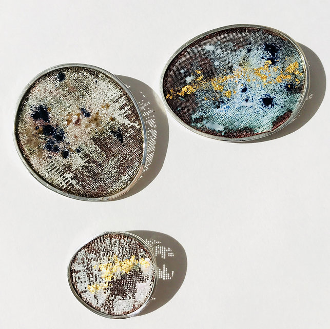 Estelle Burton - Contemporary Enamel Jewellery. 'Breathe' Collection.