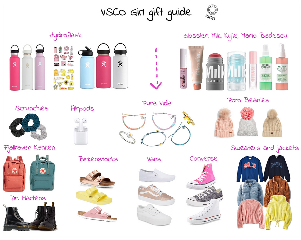 VSCO Girl gift Ideas