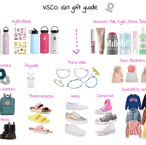 VSCO Girl Gift Guide Christmas 2019