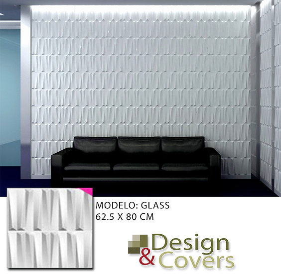 CAJA DE 3M2  3D FIBRA DE BAMBU MODELO GLASS