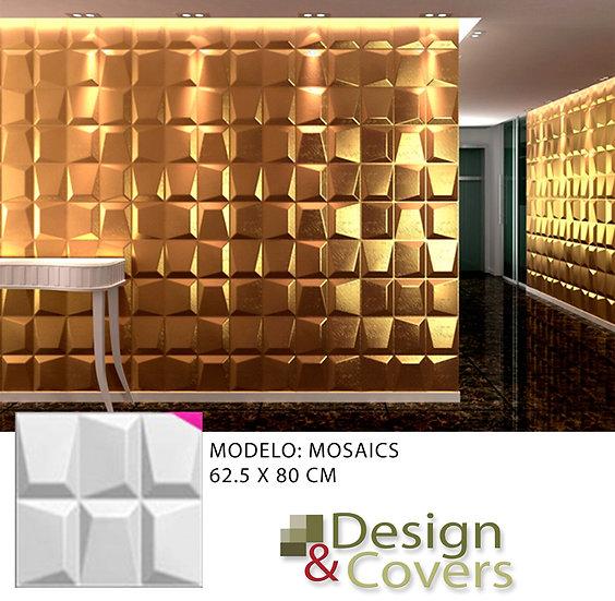 CAJA DE 3M2  3D FIBRA DE BAMBU MODELO MOSAICS