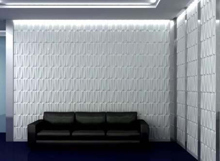 ¡Decoración de  pared con panel 3d  !