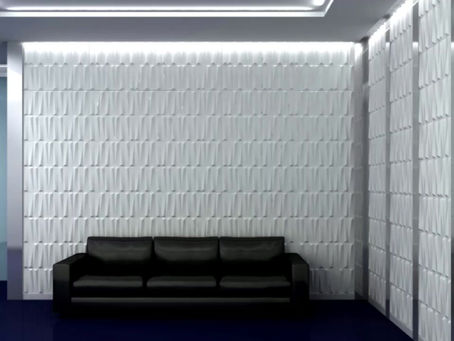 ¡Decoración de  pared con panel 3d  !