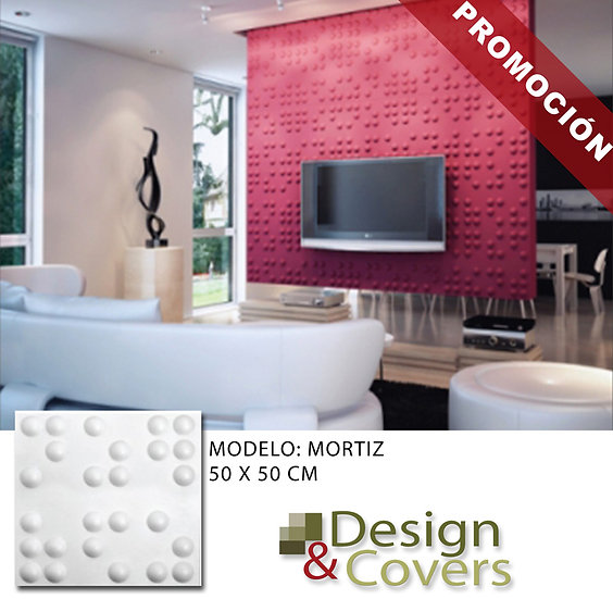 CAJA DE 3M2  3D FIBRA DE BAMBU MODELO MORITZ