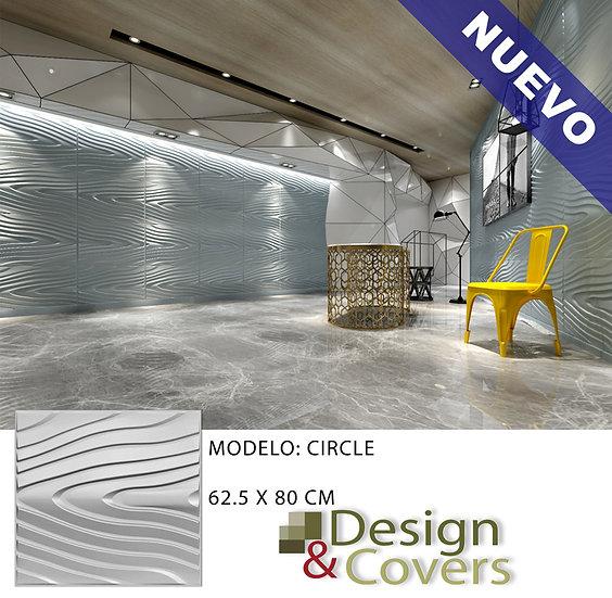 CAJA DE 3M2  3D FIBRA DE BAMBU MODELO CIRCLE