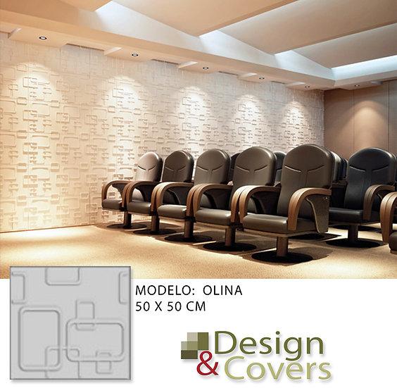 CAJA DE 3M2  3D FIBRA DE BAMBU MODELO OLINA