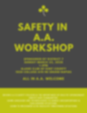 Safety in A.A. - ACKC Workshop - Sunday,