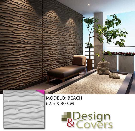 CAJA DE 3M2  3D FIBRA DE BAMBU MODELO BEACH
