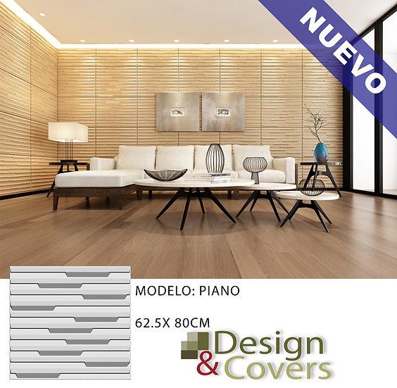 CAJA DE 3M2  3D FIBRA DE BAMBU MODELO PIANO