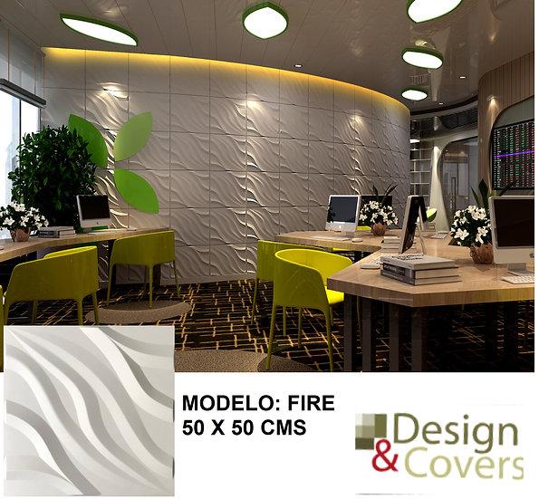 CAJA DE 3M2  3D FIBRA DE BAMBU MODELO FIRE