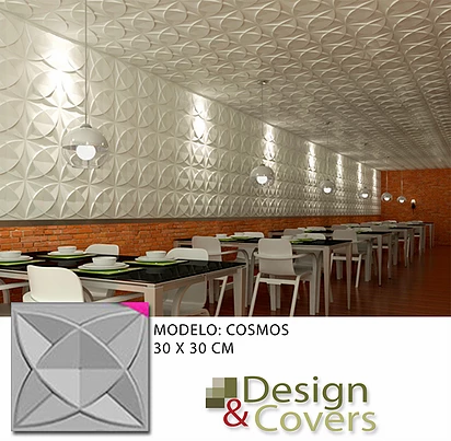 CAJA DE 3M2  3D FIBRA DE BAMBU MODELO COSMO