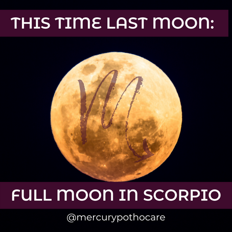 This Time Last Moon: Full Moon in Scorpio