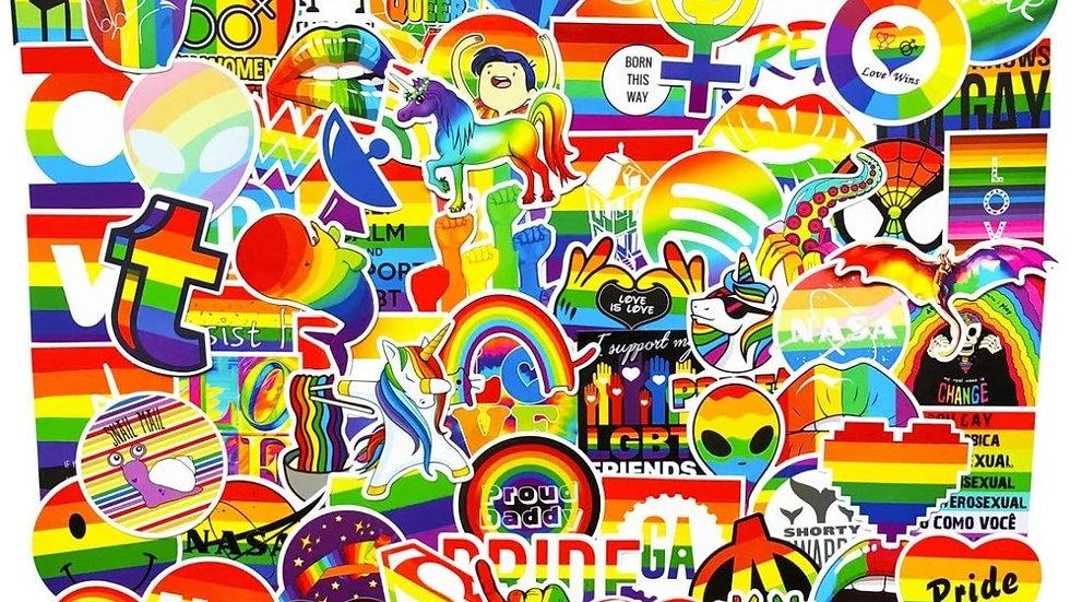 Pride mystery sticker packs