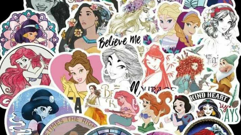 Disney princess mystery sticker packs
