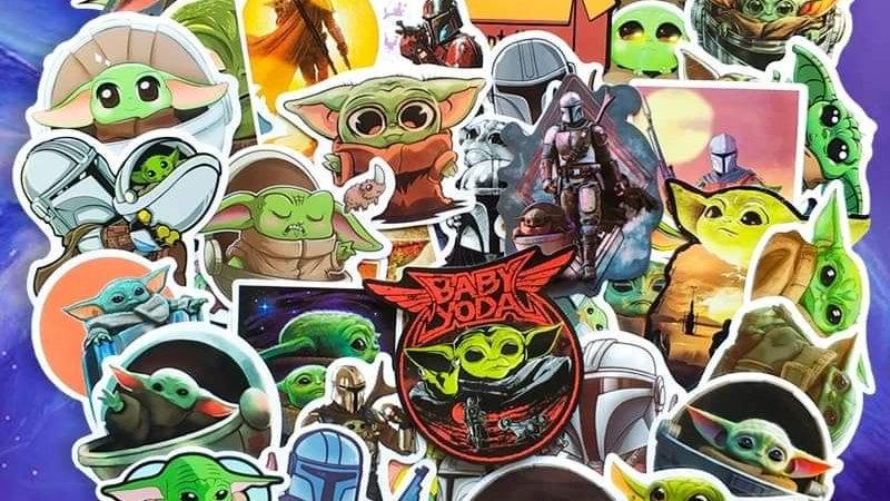 The Child/baby yoda/mandalorian mystery sticker packs