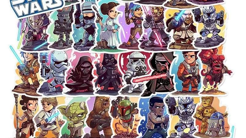 Star wars mystery sticker packs