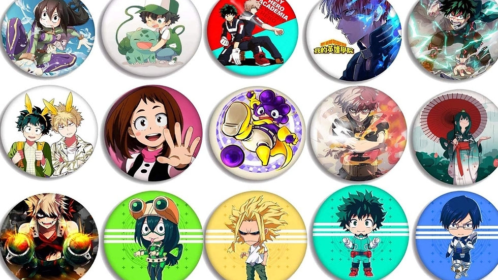 My Hero Academia mystery 2 pack buttons