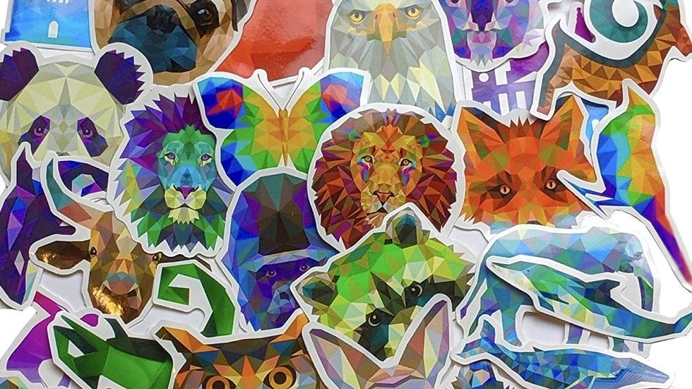 Colorful animal mystery packs