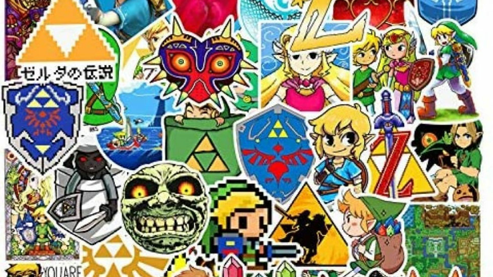 Link and Zelda mystery sticker packs