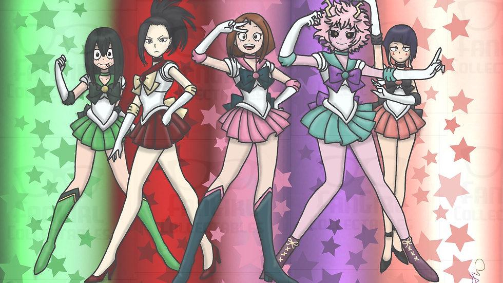 My Hero Sailor Moon Mash Up 01 Art Work