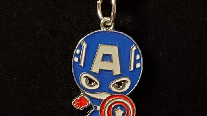 Captian America Metal Charm Neckless
