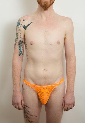 Orange Lace Thong