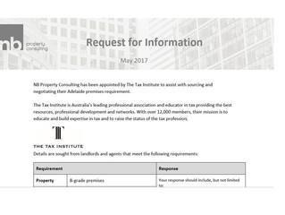 New Premises Request - The Tax Institute