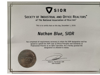 We are delighted to announce that Nathan Blue is now a SIOR Member