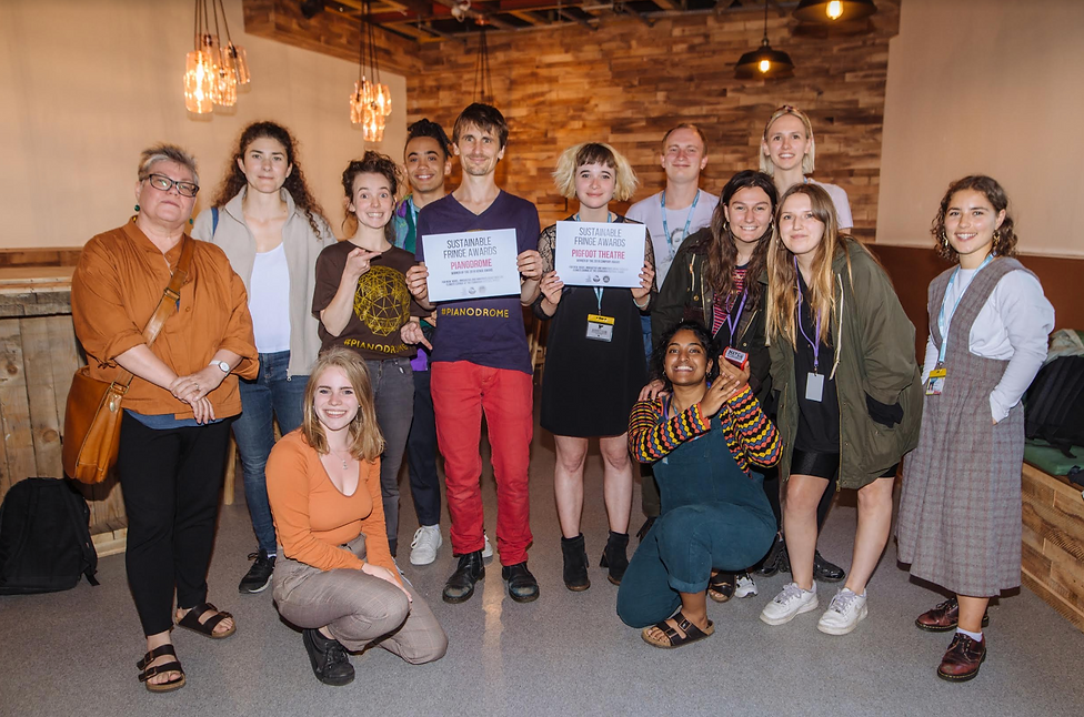 Staging Chage Creative Carbon Scotland Sustainable Frine Award Winners Edinburgh Fringe Festival 2019 Pigfoot Theatre Pianodrome