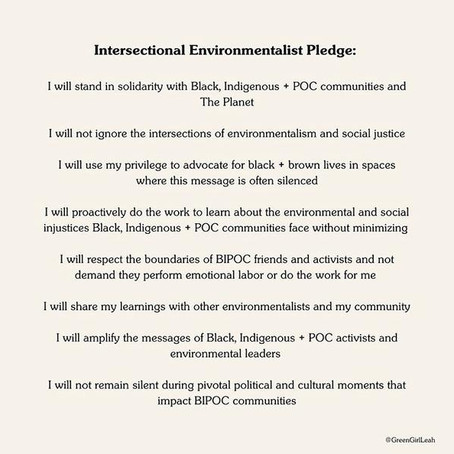Intersectional Environmental Pledge