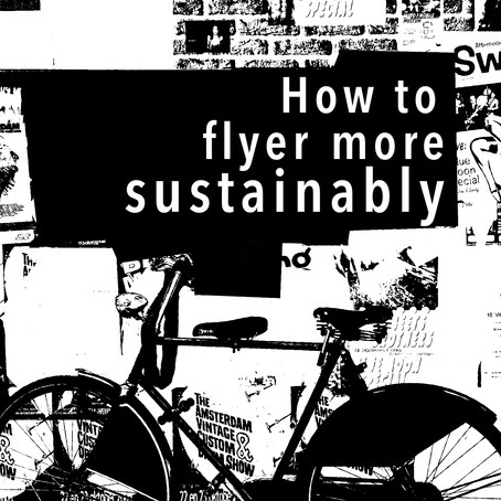 How to flyer more sustainably