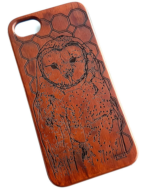 Owl Phone Case in Rose Wood. Suitable for Apple IPhone 6, 6s, 7 & 8 Models