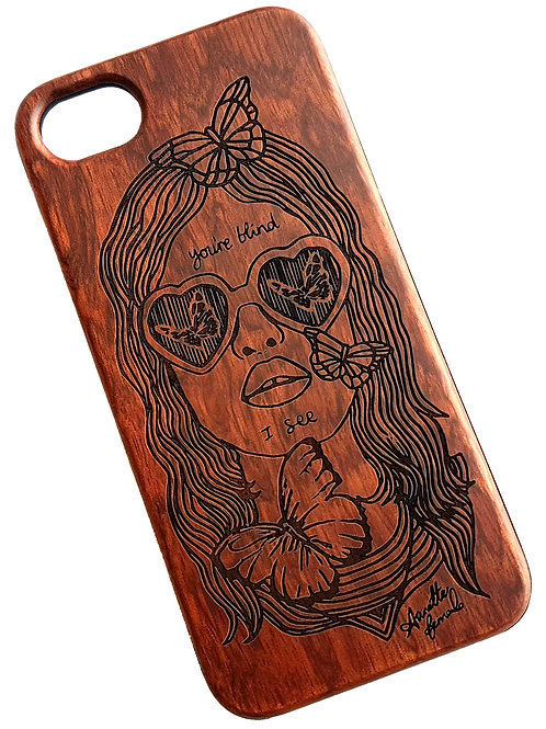 Lolita Phone Case, Rose Wood. Suitable for Apple IPhone 6, 6s, 7 & 8 Model