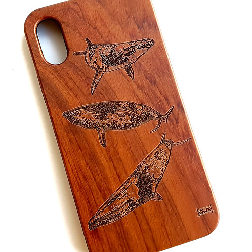 Whale Phone Case, Rose Wood. Suitable for Apple IPhone X & XS Models