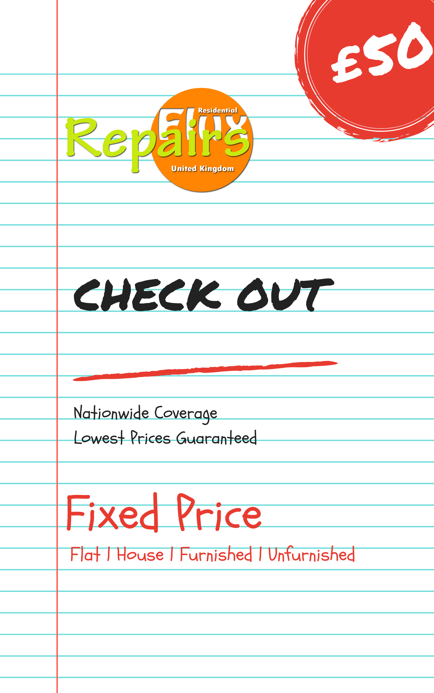 RepairsFluX Check Out