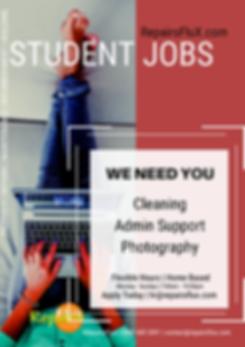 RepairsFluX Student Jobs
