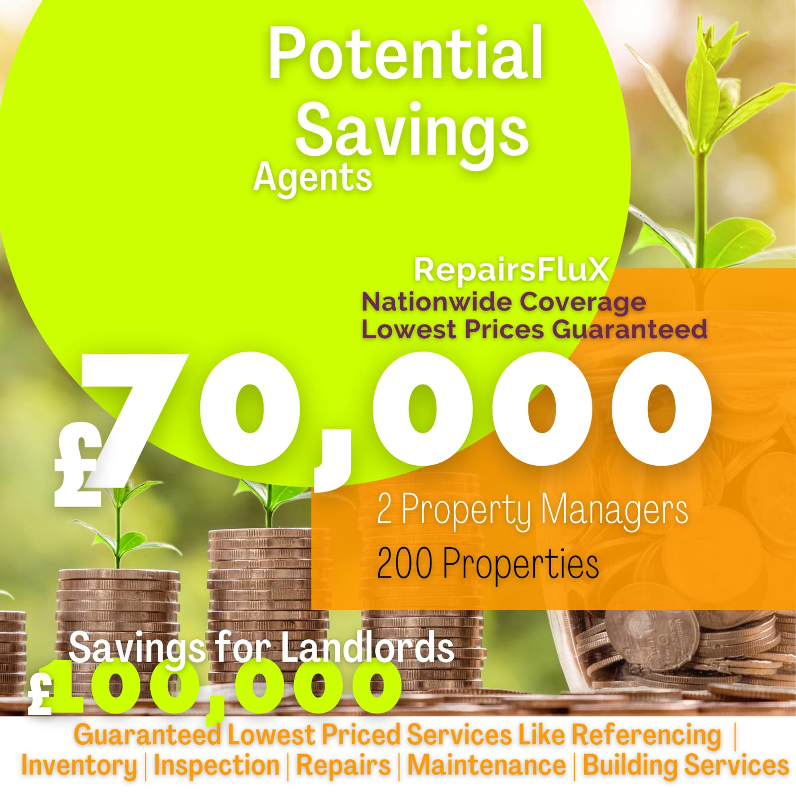 RepairsFluX Savings