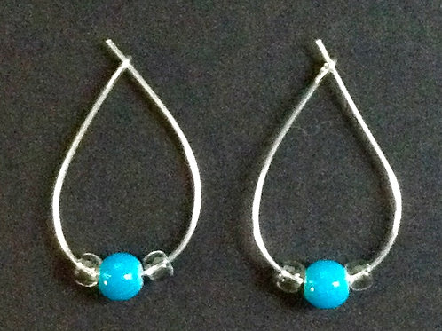 Turquoise looped earrings