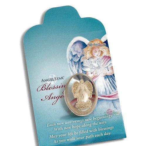 Angel blessing stone