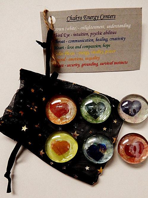 Glass Chakra Magnets