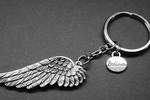 Angel keychain with charm