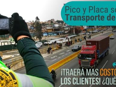 ¡PICO Y PLACA APLICADO SOBRE EL TRANSPORTE DE CARGA🚛TRAERÁ MAS COSTOS PARA LOS CLIENTES!💰