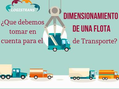 Variables que se deben tener en cuenta para Dimensionar una Flota de Transporte